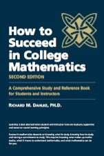 How to Succeed in College Mathematics